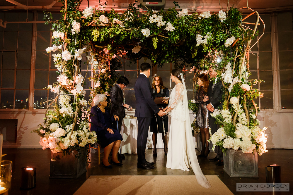 White Floral Ceremony Arch