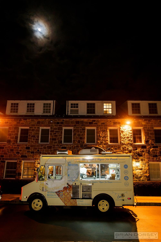 Ice Cream truck under the moonlight