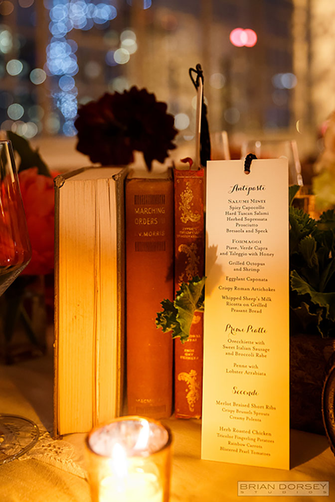 Books and Menu Decor