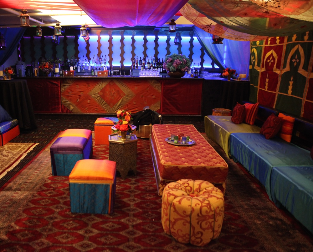 Brightly Colored Lounge