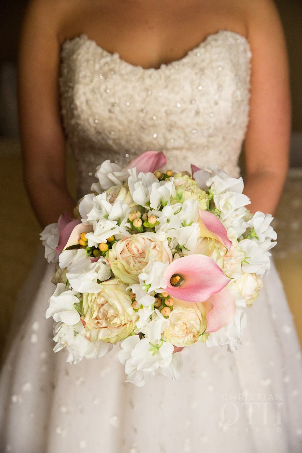 Bouquet White with Pinks