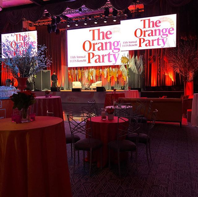 So happy to design another ECFS benefit @ziegfeldballroom #orangeparty #lucky13