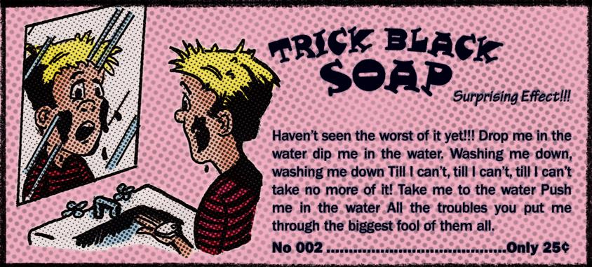 Trick Black Soap Comic Book Ad