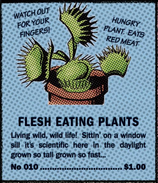 Flesh Eating Plants Comic Book Ad