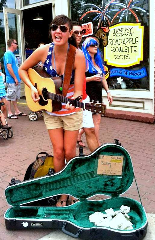 Busking - Hailey, ID  July 2013