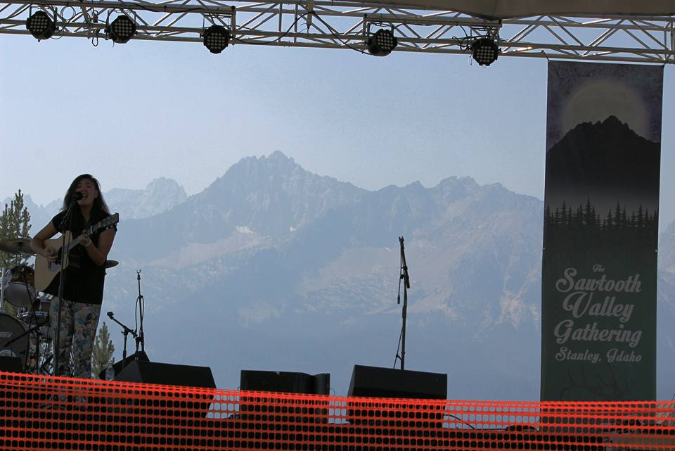 Main stage at Sawtooth Valley Gathering - Stanley, ID  August 2015