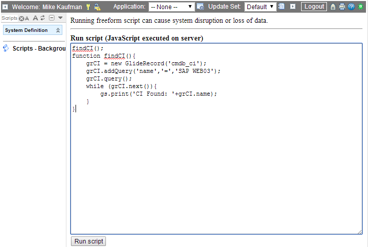 Background Script Utility