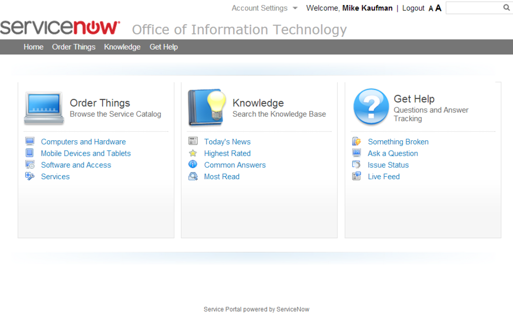 ServiceNow Berlin OOB CMS