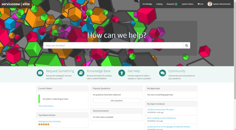 Portal with Menu Bar Transparent Background