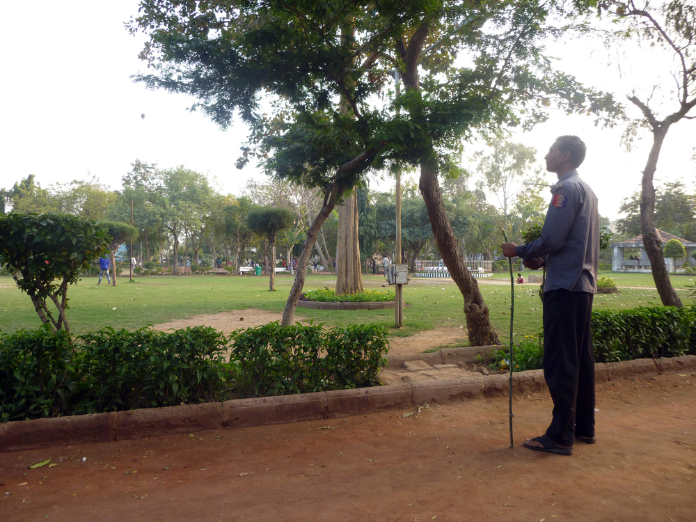 Security Guards with a stick, keeping an eye on park users was a common sight