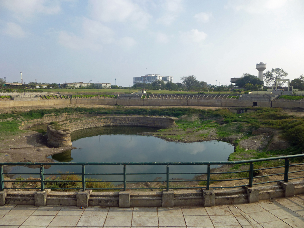 The recently redeveloped Asarwa Lake in east Ahmedabad. The lake offers a huge space in the park. You can look but you can't touch!