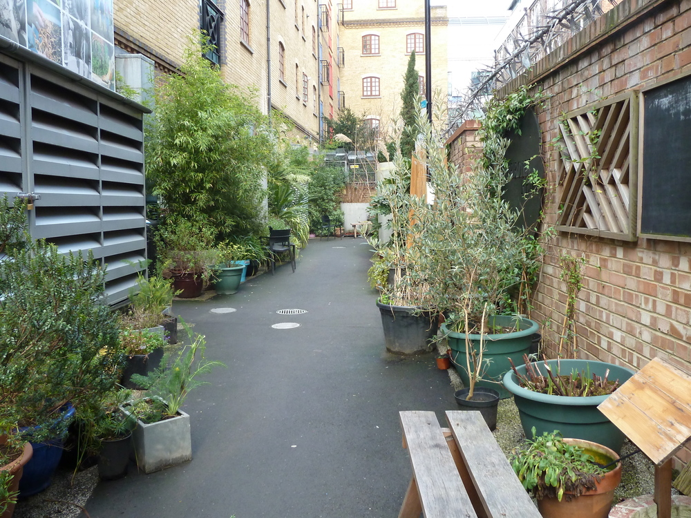 Gibbon's Rent. A no-go back alley is now a secret and safe space managed by Team London Bridge.