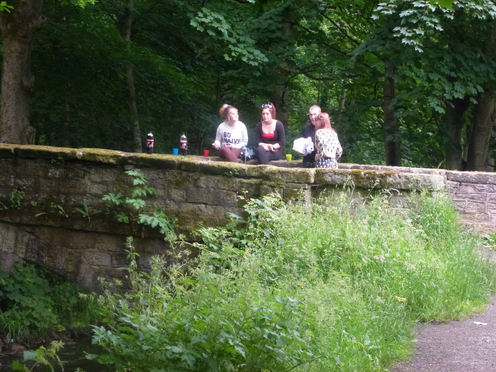 Do these teenagers recognise the historic nature of their picnic space?