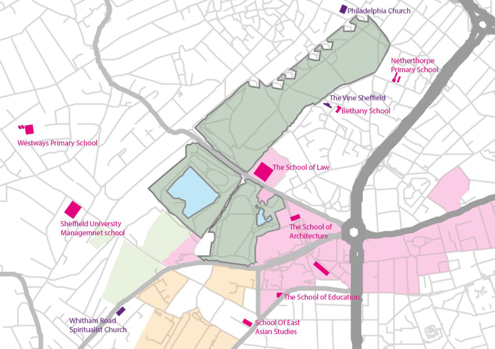 The three parks   I examined in more detail: Weston Park, Crookes Valley Park and Ponderosa
