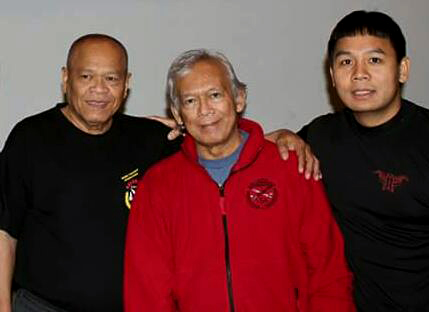 Grand Master Bobby Taboada (Left), Grand Master Jorge Peňafiel (Center), and Guro Michael Malanyaon (Right)