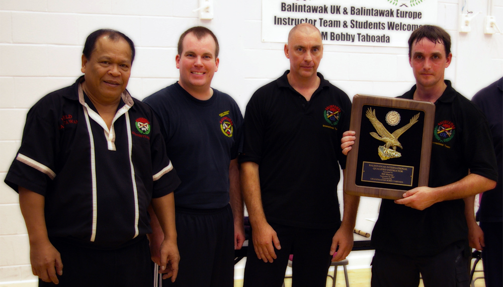 GM Bobby Taboada, Guro Robert Klampfer, CM Rich Cotterill, Guro Bill Murray (L to R)