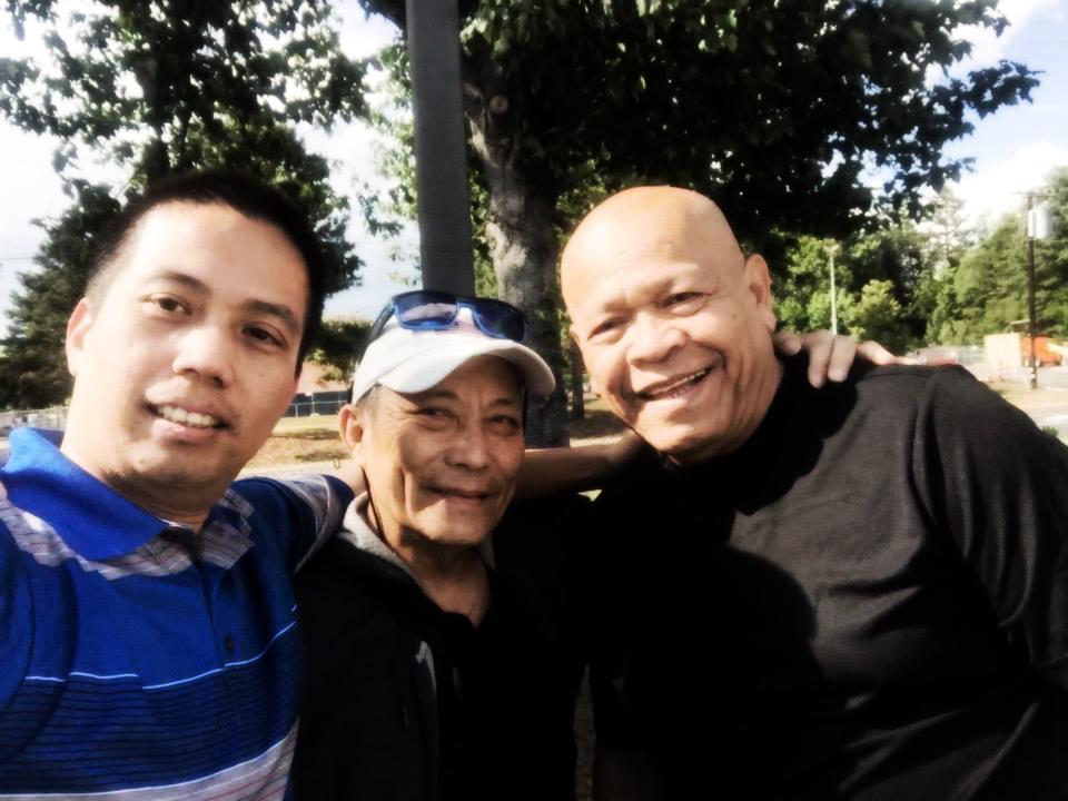 Eugene with GM Monie Velez (Center) and GM Bobby Taboada (Right)