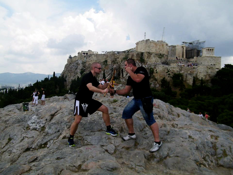 Phillip Wolf and Christos Koutsotasios at the Acropolis