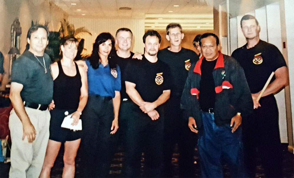 GM Taboada (2nd from Right), Guro LoParo (3rd from Left), and crew in Orlando Florida to be inducted into the Martial Arts Hall of Fame. (2000)