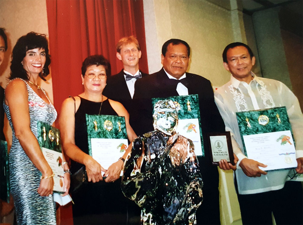 Martial Arts Hall of Fame induction in Orlando Florida, (2000)