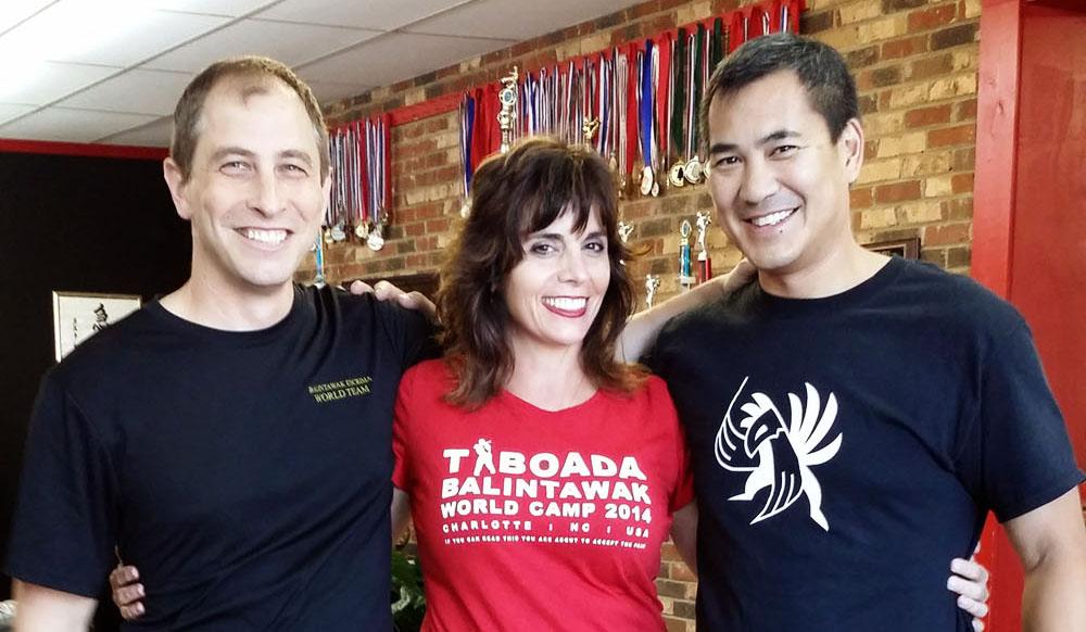 Guro Brian Corey (L), Guro Sharon LoParo (C), Guro Jeff Soriano (R)