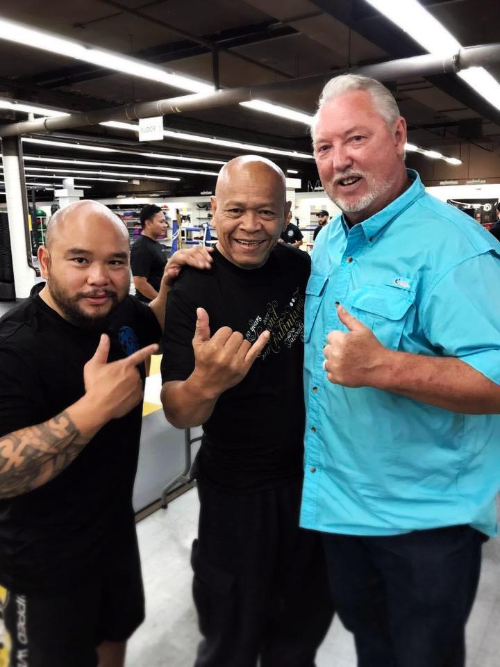 Guro Belton Lubas (L), GM Bobby Taboada (in a totally rad Richmond Balintawak shirt) (C), and GM Kelly Worden (L)