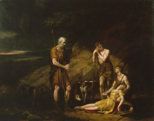 Imogen Discovered in the Cave of Belarius by George Dawe.