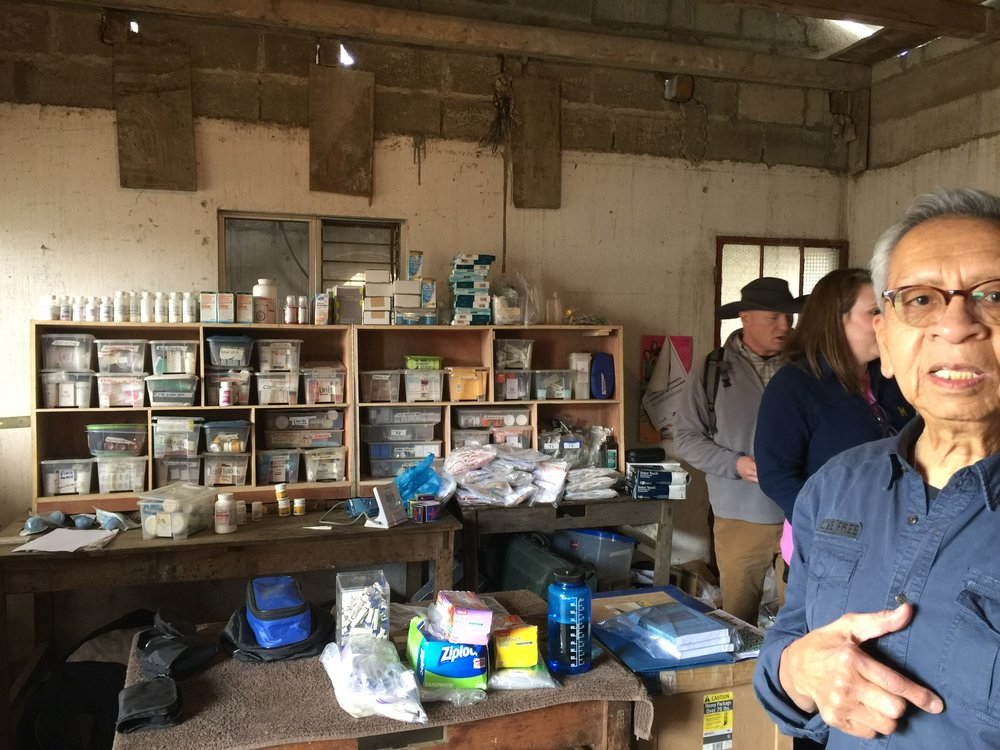 Our own Dr. Eddie Santiago set up a temporary pharmacy with supplies and medicine we brought with us.