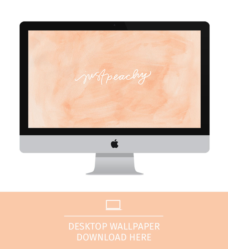 Wallpaper \\ Just Peachy - Pommel Lane