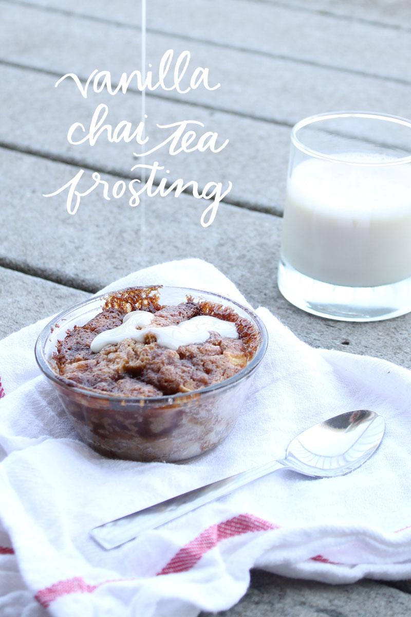 Vanilla Chai Tea Frosting || Pommel Lane