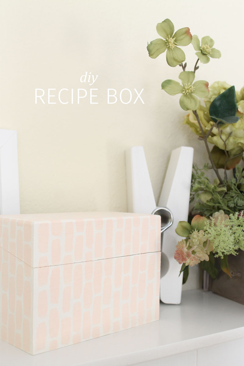 DIY Recipe Box || Pommel Lane