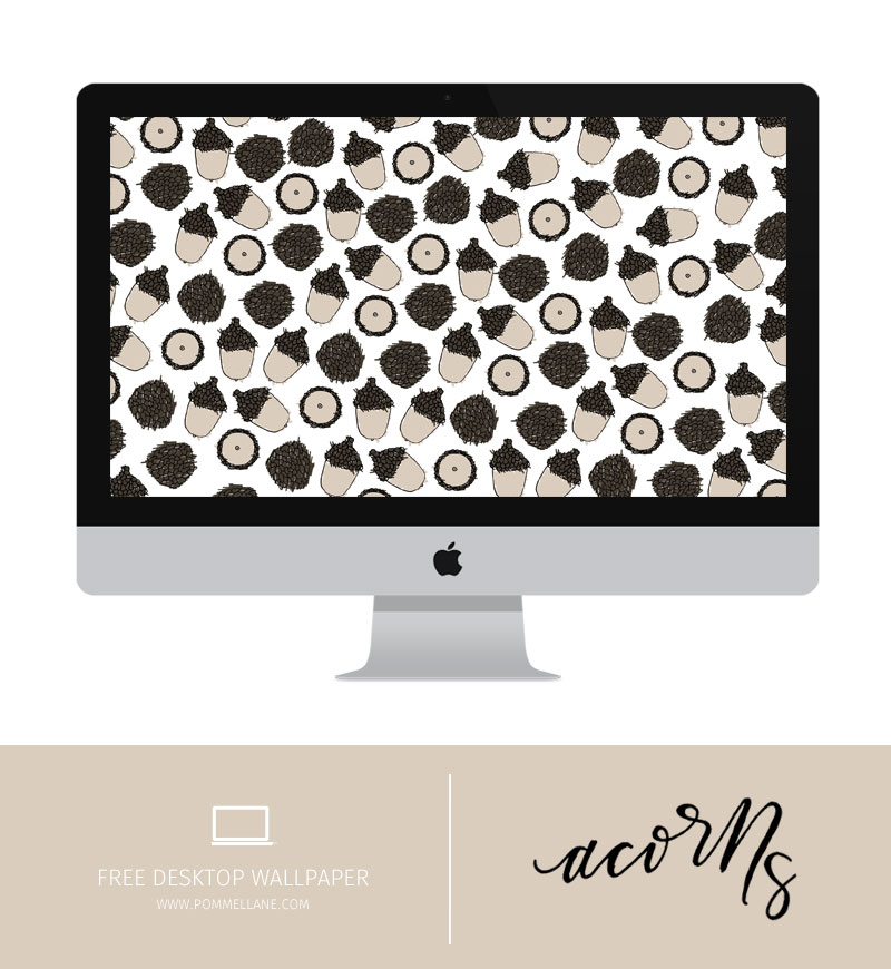 Free Wallpaper Download - Acorns | Pommel Lane