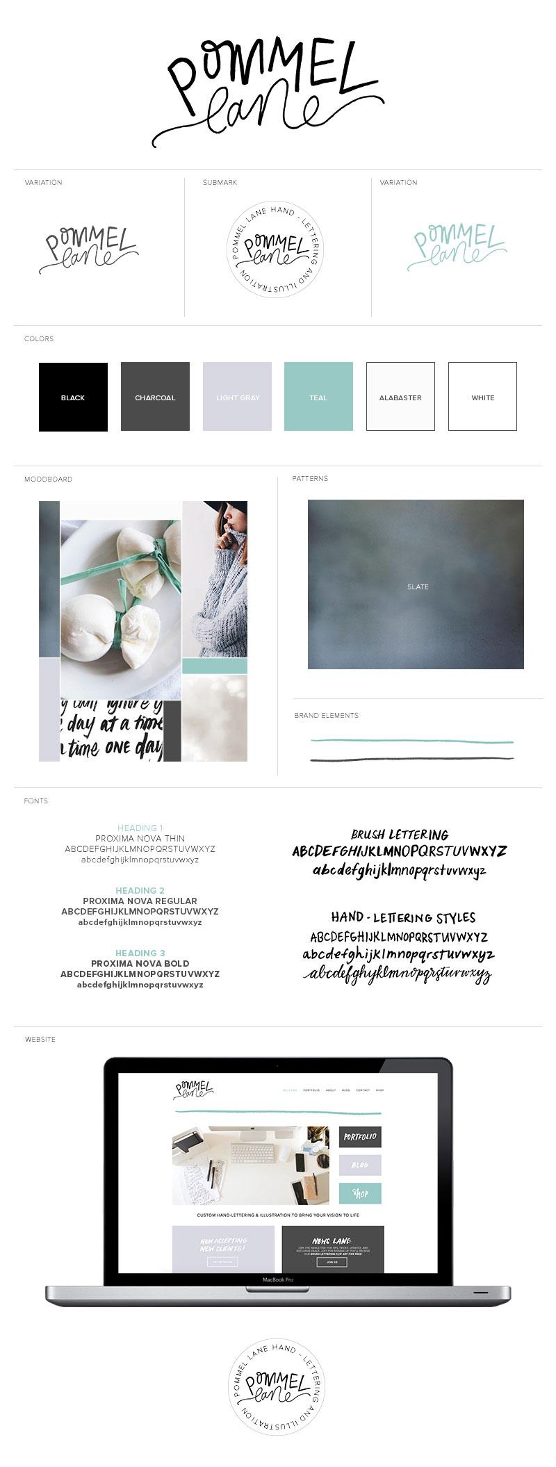 Pommel Lane Branding  |  Handlettering, Illustration and Design Studio  |  Branding by Pommel Lane