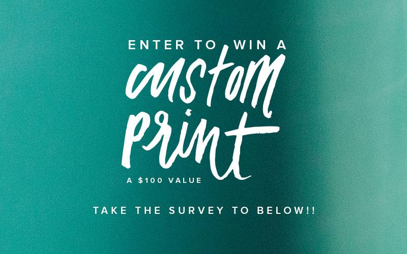 Enter to Win a CUSTOM PRINT!!  |  Take the Reader Survey  |  www.pommellane.com
