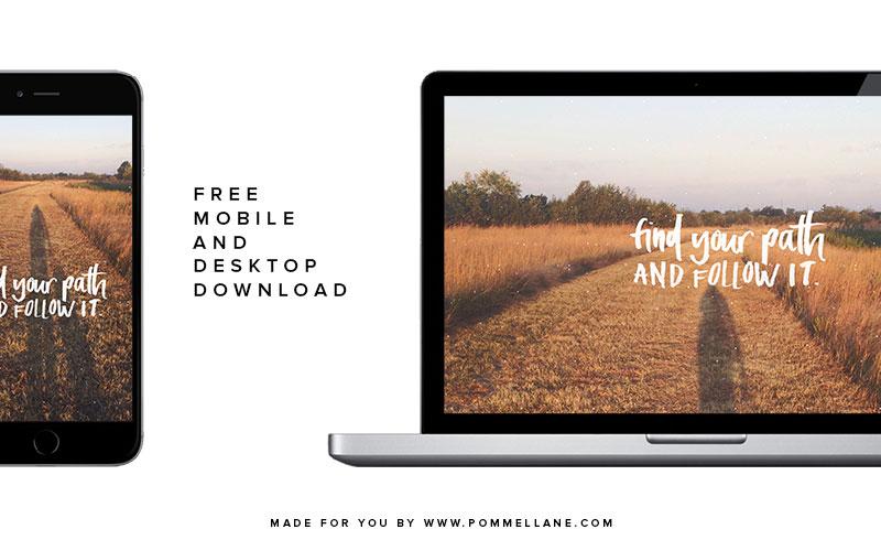 Free Desktop & Mobile Download | #pommellane #motivationalmonday
