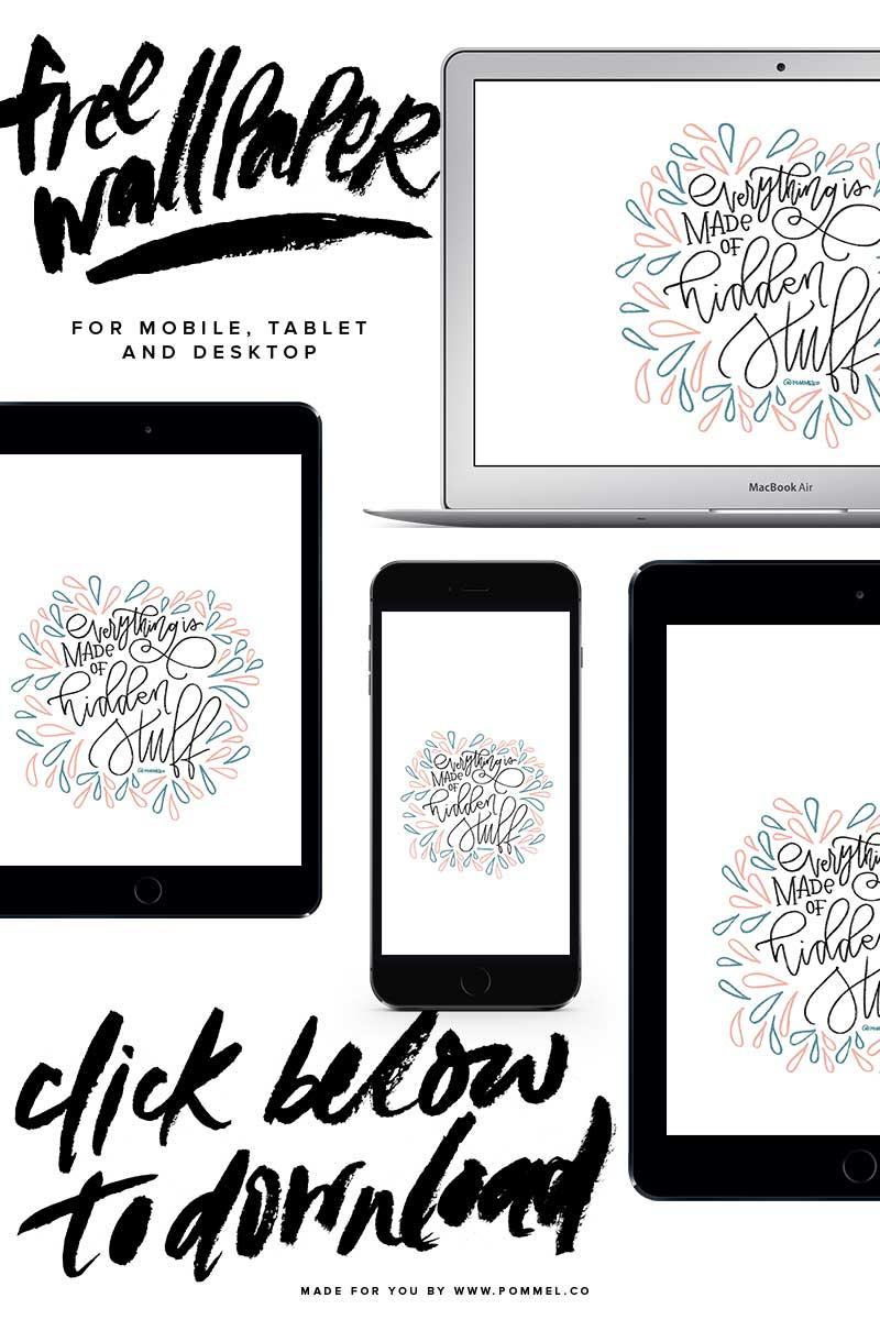 Free Wallpaper Download - Hidden Stuff by Pommel Co. #pommelco #freedownload #wallpaper