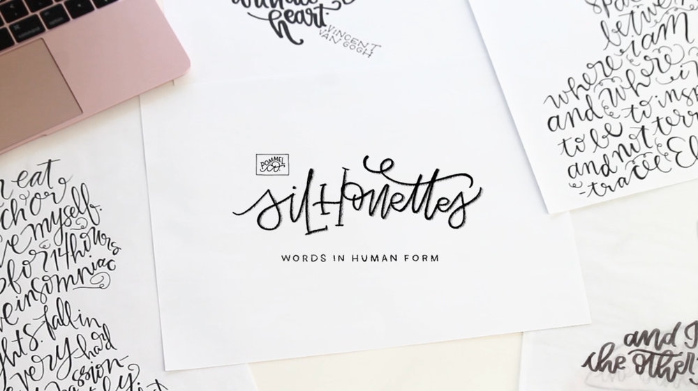 Silhouettes: Words In Human Form | A class on Skillshare by Pommel Co.