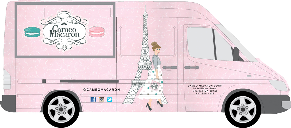 Cameo macaron for Design food truck online