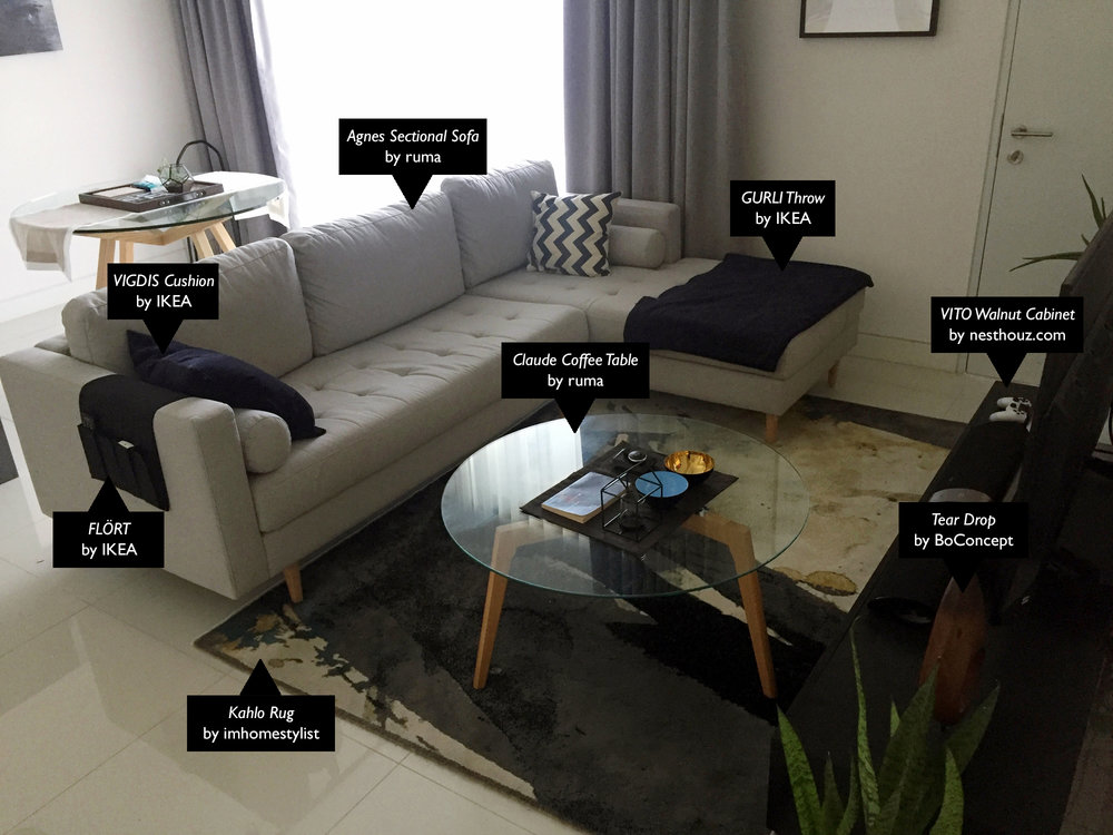 Majority Of The Initial Furniture Purchased For The Unit Was For The  Living. I Chose The L Sofa Rather Than 3 Seater + 2 Seater Due To The  Limited Space And ...