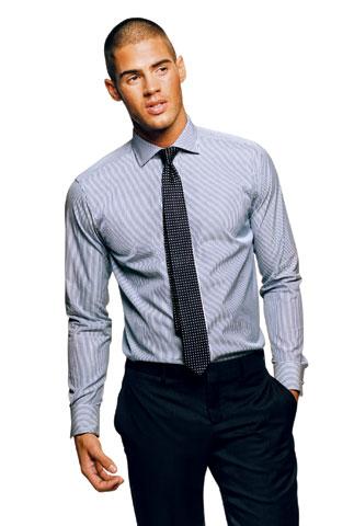 Slim cut dress shirt - Photo courtesy of GQ