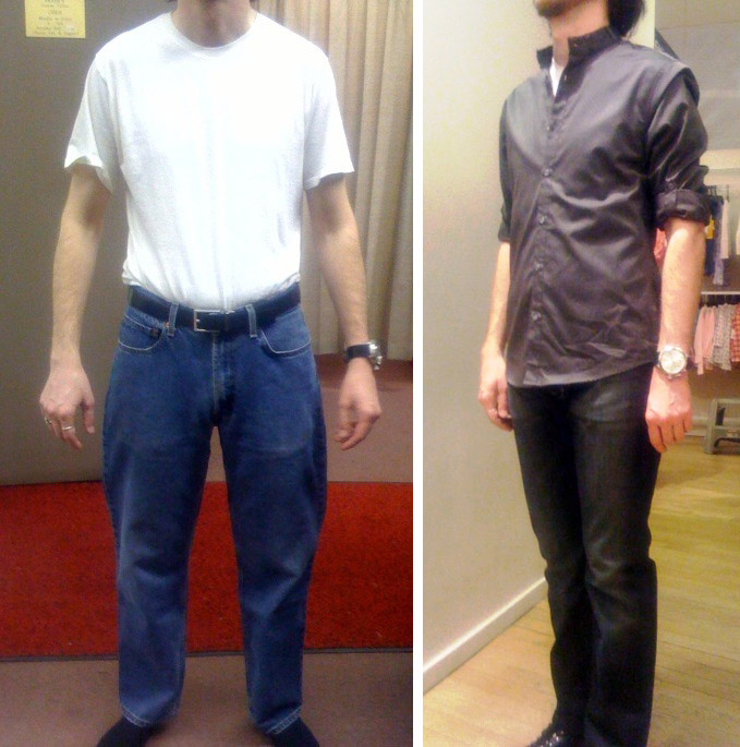 before-and-after casual cool