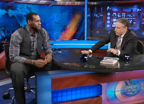 Lebron James on the Daily Show