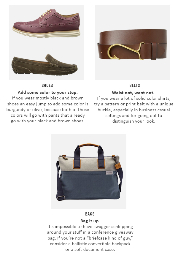 3d3eb516c Head to toe, men have 18 ways to accessorize, but today we'll cover three  of the easiest ways to up your accessories game.