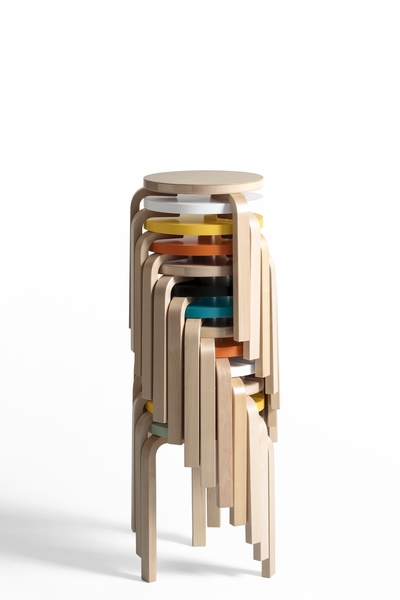 Stool 60, design Alvar Aalto, by ARTEK