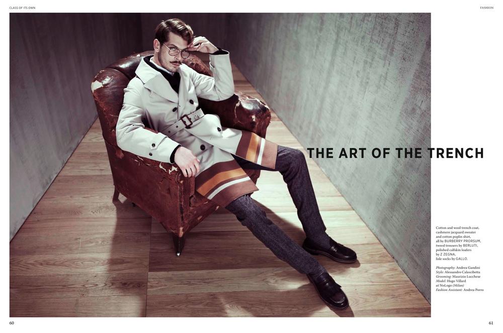 Photography: Andrea Gandini | Style : Alessandro Calascibetta | Grooming: Maurizio Lucchese | Model: Hugo Villard at NoLogo (Milan) | Fashion Assistant: Andrea Porro