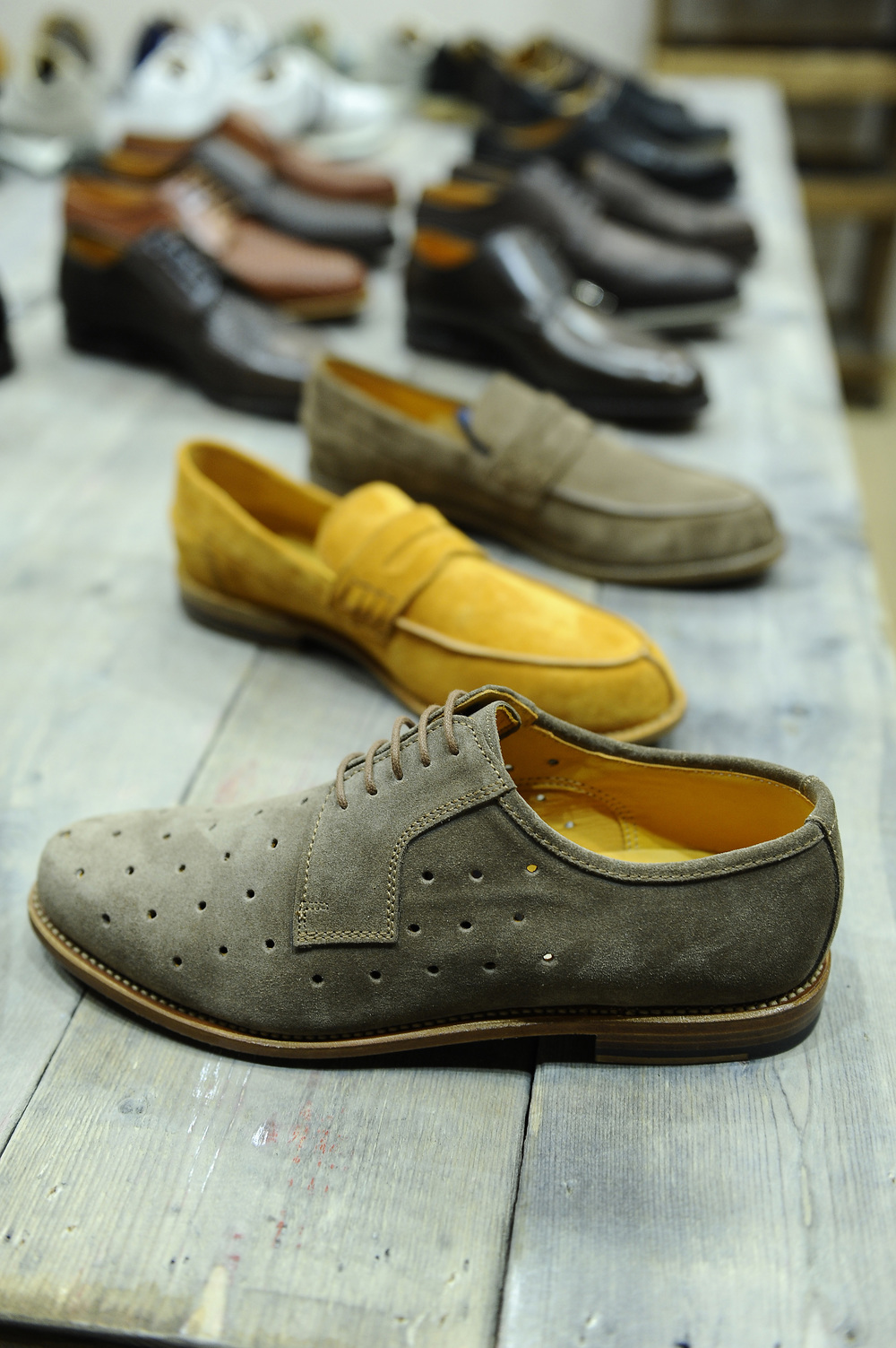 Perforated suede derby shoes by LUDWIG REITER