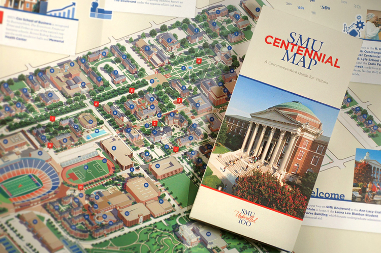 Centennial Map : Commemorative Campus Guide
