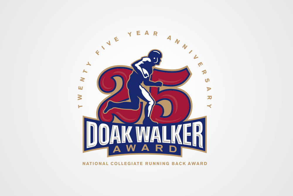 Doak Walker Award 25th Anniversary Logo