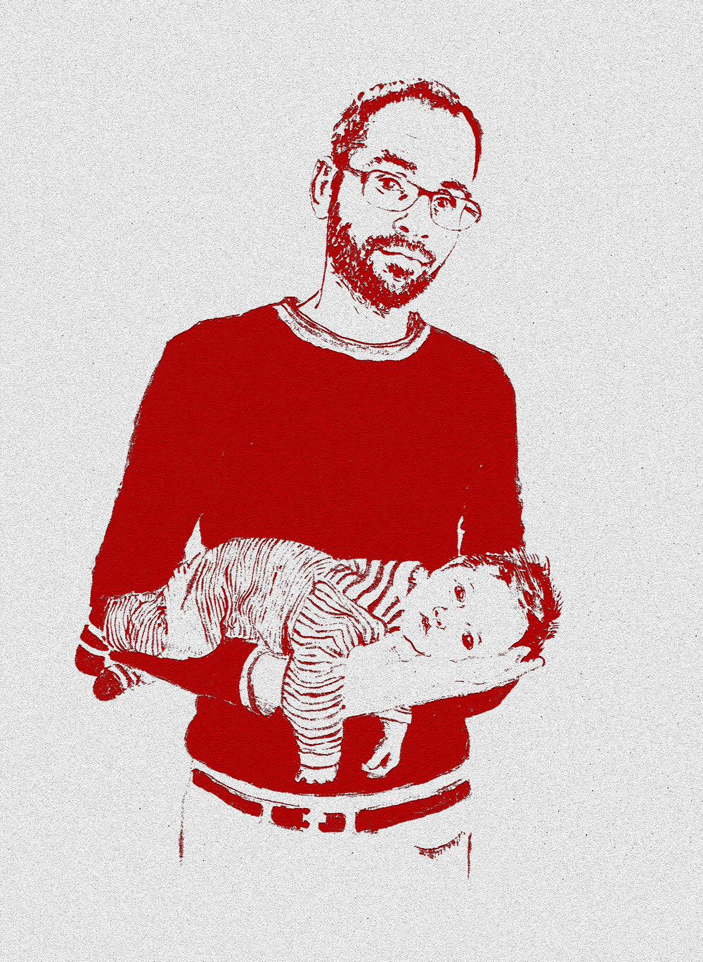 Elin_eriksen_portrett_akvarell_barn_pappa og baby.jpg