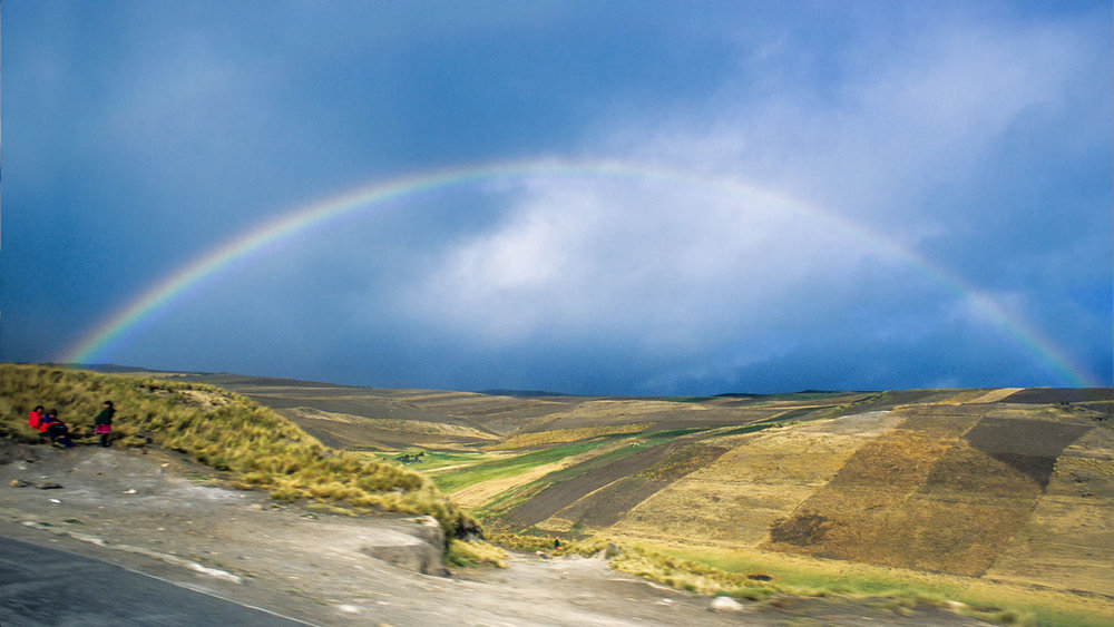 Rainbow outside of Riobamba, Ecuador, 2003.